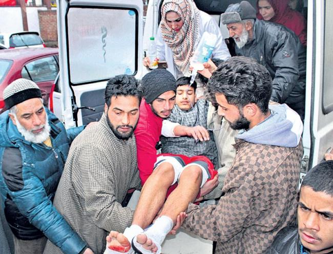 12 students suffered critical injuries when an explosion rocked a private school in Jammu and Kashmir - Sakshi