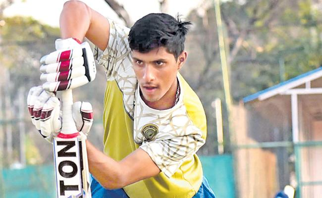 Young cricketer from Hyderabad, is playing in domestic cricket - Sakshi