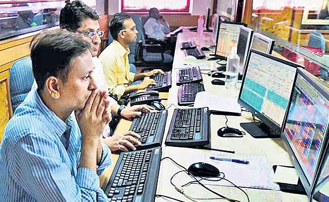 Sensex ends 119 pts lower, Nifty below 10,800 - Sakshi