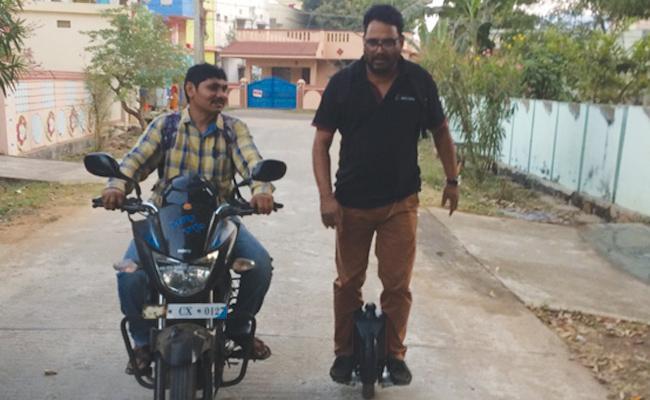 Mono Wheeler Motor Cycle in Visakhapatnam - Sakshi