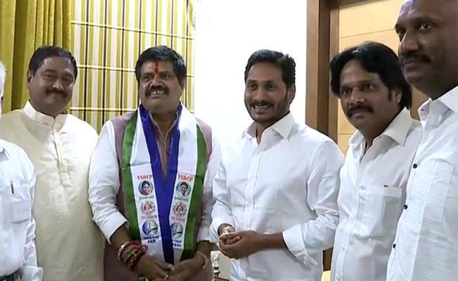 MP Avanthi Srinivas Meets YS Jagan - Sakshi