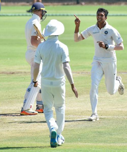 India A bowlers tame England Lions - Sakshi