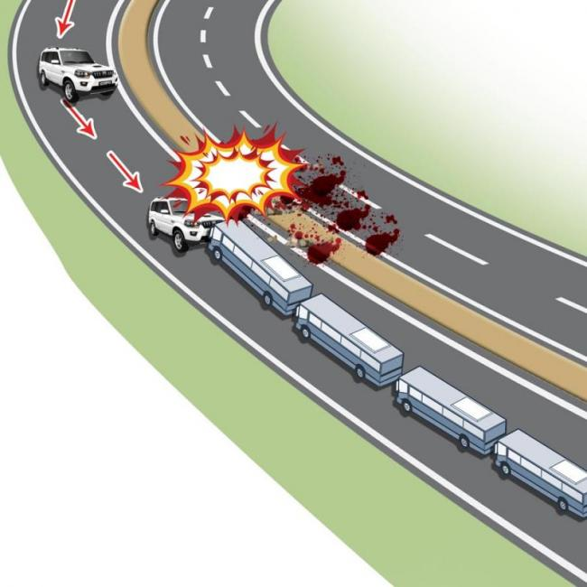 Jaish terrorists attack CRPF convoy in Kashmir, kill at least 49 personnel - Sakshi