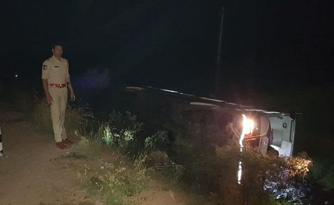 Bus Accident At Nalgonda - Sakshi