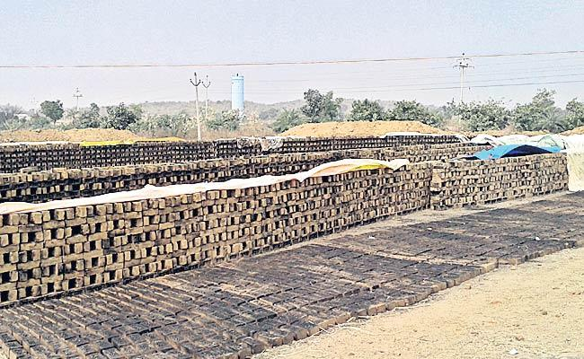 Bricks Producing Without Permission In Medak - Sakshi