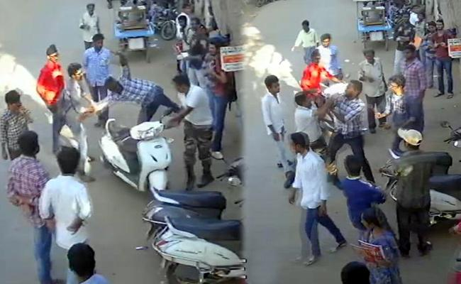 Students Attacks NCC Teacher In Nellore - Sakshi