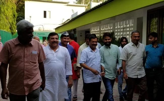 Arvind Kejriwal Begins Door To Door Election Campaign In New Delhi - Sakshi