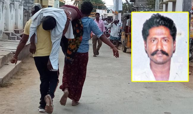 Tragedy death of a farmer because of Chandrababu Meeting - Sakshi