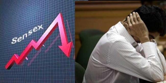 Sensex Falls Over 200 Points, Nifty Near 10,650 - Sakshi