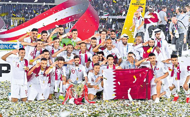 Asia Cup football winner Qatar - Sakshi