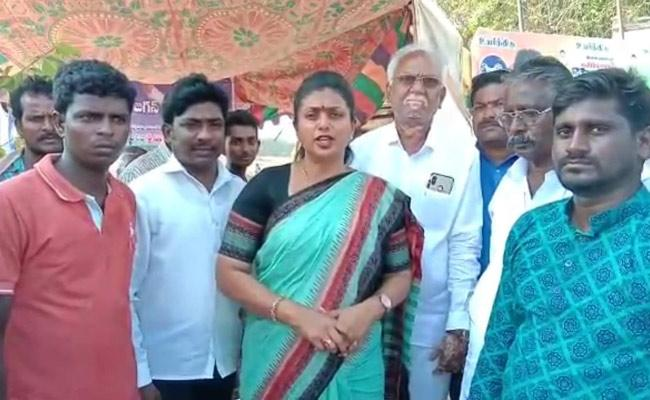 MLA Roja Fires On Chintamaneni Prabhakar Controversial Comments Over Dalits - Sakshi