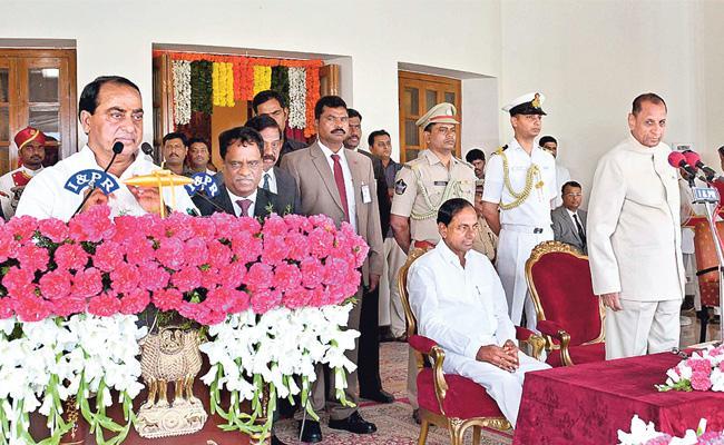 Allola Indrakaran Reddy Takes Oath As Minister In KCR Cabinet - Sakshi