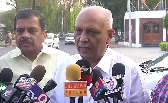 IYR Krishna Rao Complaint Against Chandrababu Over Comments On Pulwama Attack - Sakshi