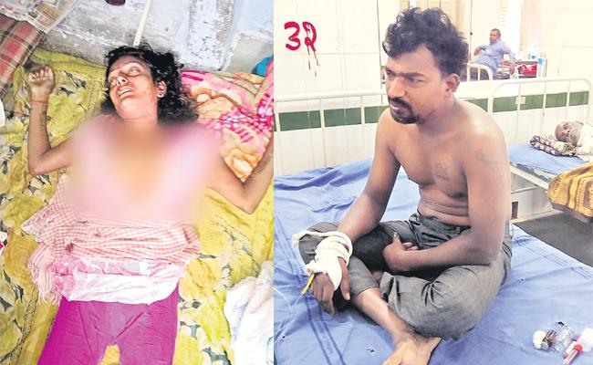 Husband Killed Wife After Commits Suicide Attempt - Sakshi
