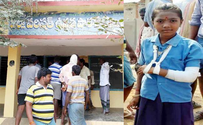 Teacher Beaten Sixth Class Student in Chittoor - Sakshi