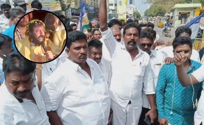 Dalit Leaders Demand Police Filed Case Against Chintamaneni Prabhakar - Sakshi