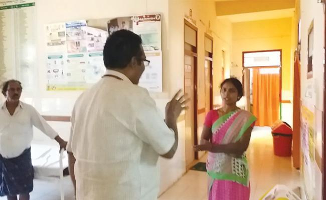 Drunked Doctor Treatments in West Godavari PHC - Sakshi