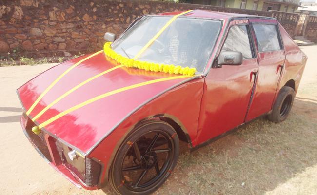 Polytechnic Student Janapareddy Designed Car From Auto - Sakshi