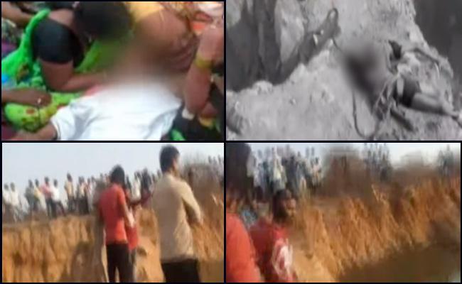 Three Children Died After Drown In Tank In Sangareddy - Sakshi