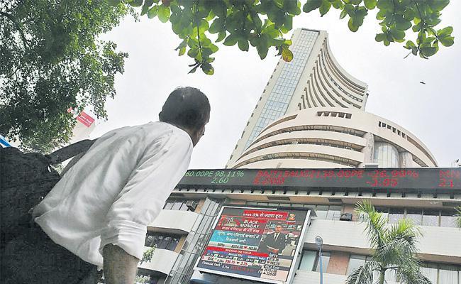 Sensex, Nifty end a rangebound session flat; metal stocks outperform - Sakshi