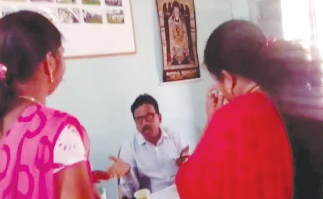 Agriculture Department Officer Fired on Women Officers - Sakshi