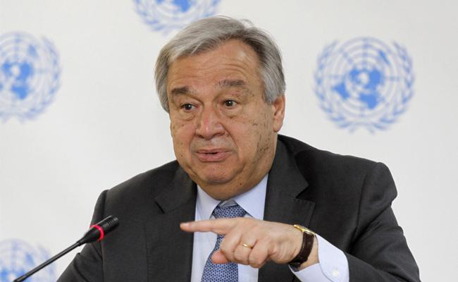 Antonio Guterres Urges India And Pakistan For Restraint Over Surgical Strikes - Sakshi