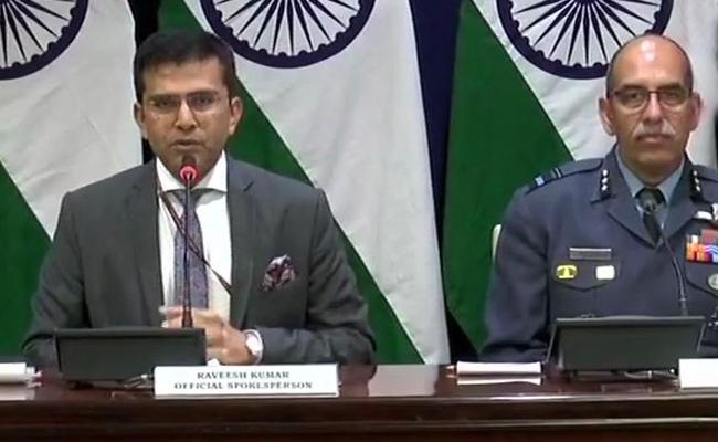 Air Force Pilot missing after shot down a Pakistani jet says MEA - Sakshi