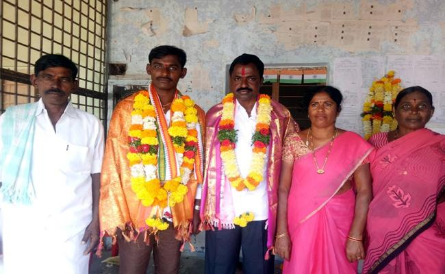 Telangana New Grama Panch Member Sworn - Sakshi