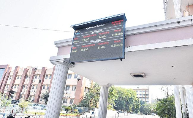 Brings LED Displays To Know weather Report In Telangana - Sakshi