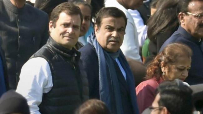 Rahul Says Nitin Gadkari Only BJP Leader With Guts - Sakshi