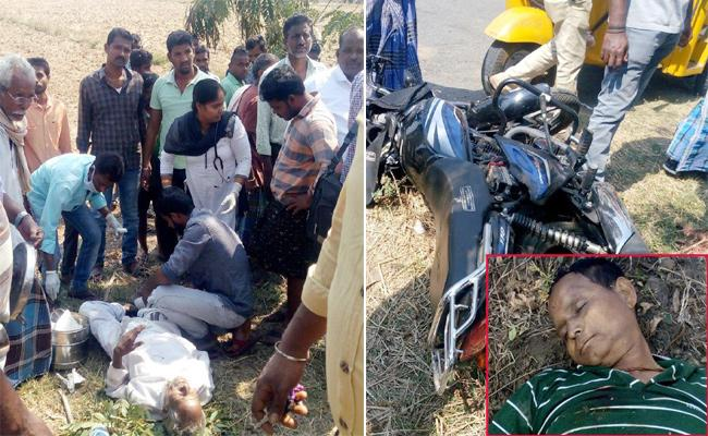 Man Died in Bike Accident Vizianagaram - Sakshi