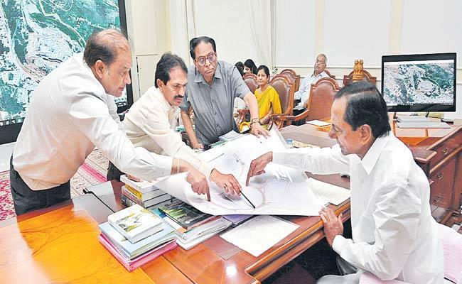 KCR Review Over Yadadri Renovation At Pragathi Bhavan - Sakshi