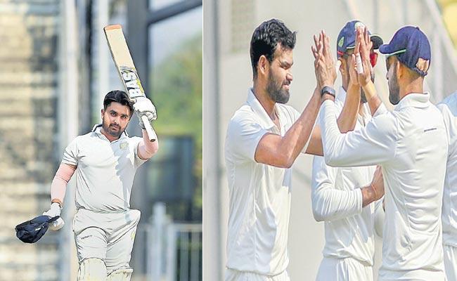 Vidarbhas five run lead over Saurashtra in the first innings - Sakshi