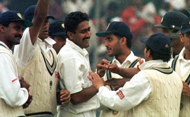 A look back at Anil Kumbles historic 10 wicket haul vs Pakistan - Sakshi