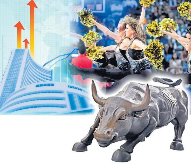 Sensex soars 358 points after testing 37,000 levels - Sakshi
