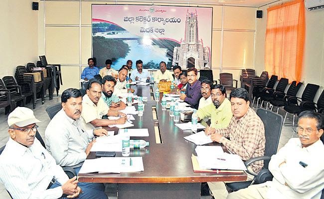 Collector Dharma Reddy Meeting With Officers Medak - Sakshi