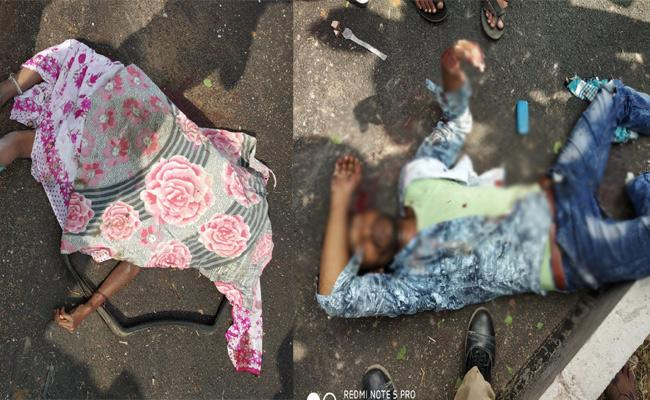 Wife And Husband Died In Road Accident Mahabubnagar - Sakshi