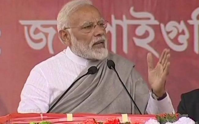 Modi Says West Bengal CM Sits On Dharna To Save The Corrupt - Sakshi