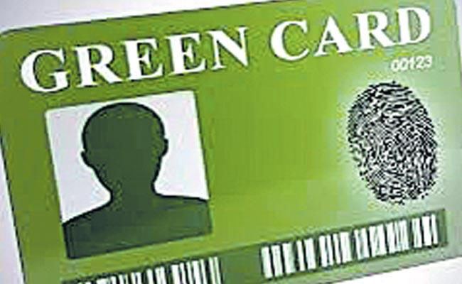Green Card bill was introduced by the lawmakers in the US Congress - Sakshi
