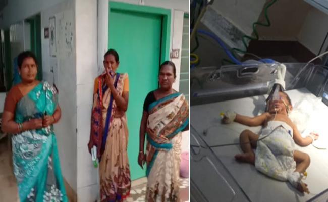 Abducted Infant Appears In Vijayawada Govt Hospital - Sakshi
