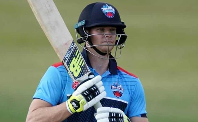 Steve Smith back in nets after elbow surgery - Sakshi