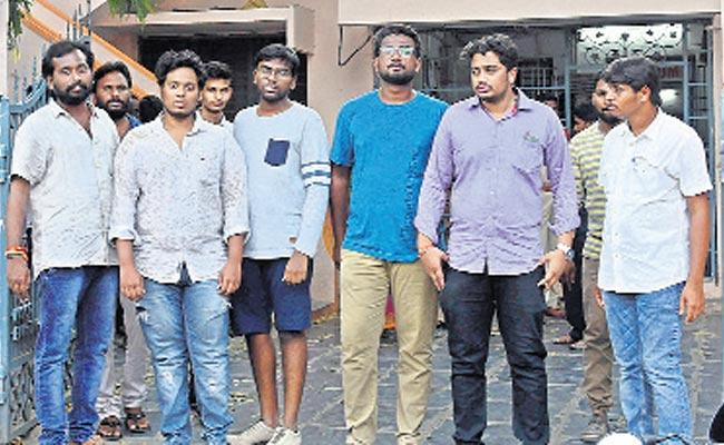 Illegal cases of students with the pretense of posting in social media - Sakshi