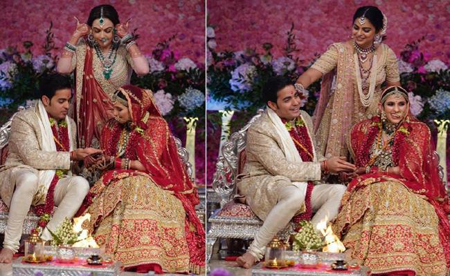 Akash Ambani Ties The Knot With Shloka Mehta - Sakshi