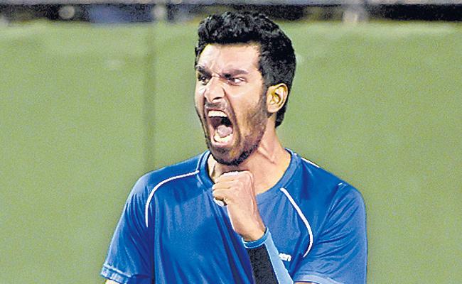 Prajnesh Gunasekaran win the another match - Sakshi