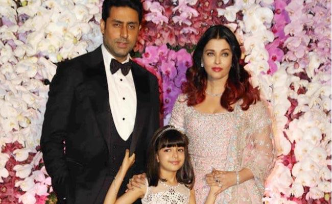 Aaradhya Bachchan Cute Counter To Paparazzi At Akash Ambani Reception - Sakshi