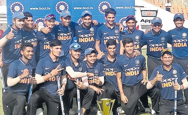 India B win Quadrangular Under-19 one-day series - Sakshi
