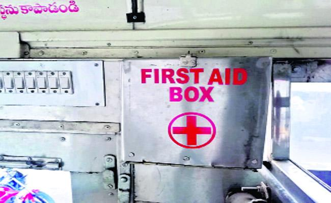 No First Aid Facilities In RTC Buses In Bhimsa - Sakshi