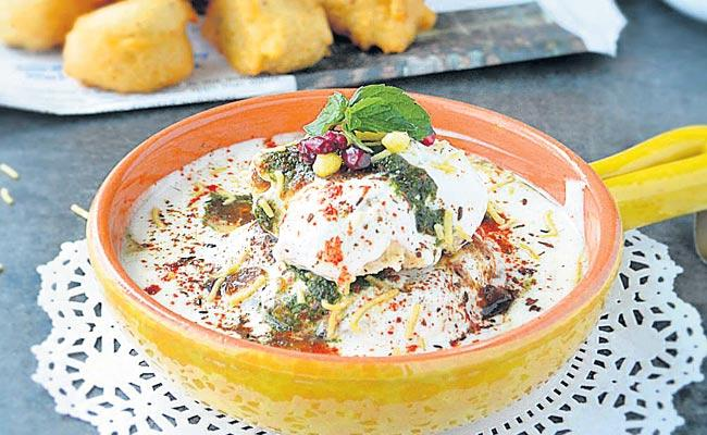 The potato mixture should be decorated with coriander leaves - Sakshi