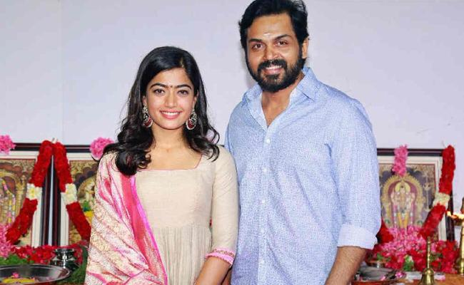 Karthi And Rashmika Movie Launched - Sakshi