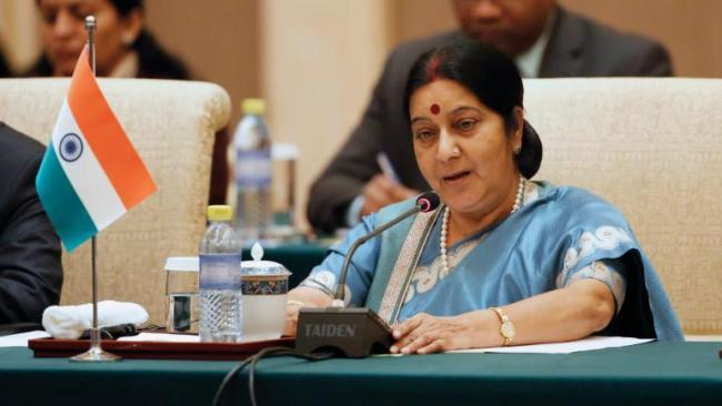 Sushma Swaraj Said If Imran Khan Is So Generous Then Give Us Masood Azhar - Sakshi